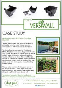 thumbnail of Dot-Pot Case Study – VersiWall GP – Garden Club London Chelsea Flower Show May 2018