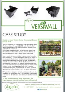 thumbnail of Dot-Pot Case Study – VersiWall GP – Shoulder to Soldier Charity Allotment February 2018
