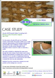 thumbnail of Hy-Tex Case Study – Coir Mesh – Arcadis UK July1999