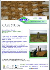 thumbnail of Hy-Tex Case Study – Coir Mesh – Cornwall County Council April 2011