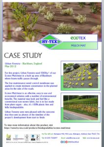 thumbnail of Hy-Tex Case Study – Ecotex Mulchmat – Urban Forestry May 2012