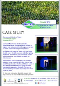 thumbnail of Hy-Tex Case Study – GrassMesh – Bournemouth Garden of Lights December 2013