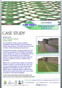 thumbnail of Hy-Tex Case Study – GrassMesh – Burgh Castle January 2008