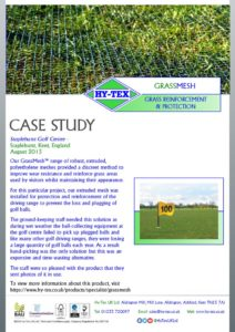 thumbnail of Hy-Tex Case Study – GrassMesh – Staplehurst Golf Centre August 2015