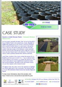 thumbnail of Hy-Tex Case Study – HyPave EKG1 – Shoulder to Soldier Charity Allotment February 2018