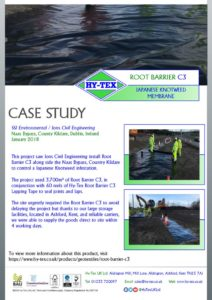 thumbnail of Hy-Tex Case Study – Root Barrier C3 – SSI Environmental January 2018