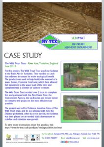 thumbnail of Hy-Tex Case Study – Sedimat – Wild Trout Trust June 2018