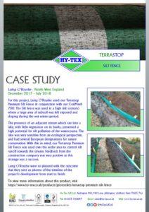 thumbnail of Hy-Tex Case Study – Terrastop Premium Silt Fence – Laing O'Rourke December 2017
